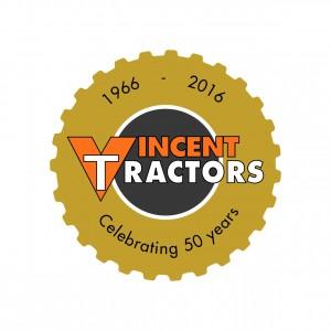 Vincent Tractors 50 Years Logo