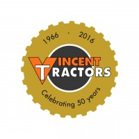 Vincent Tractors 50 Years Logo